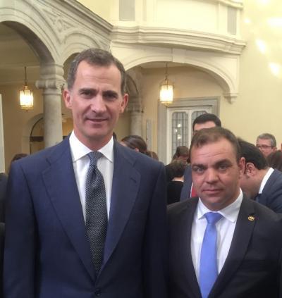 El presidente de la FEG asiste a la entrega de los Premios Nacionales presidida por los Reyes de España