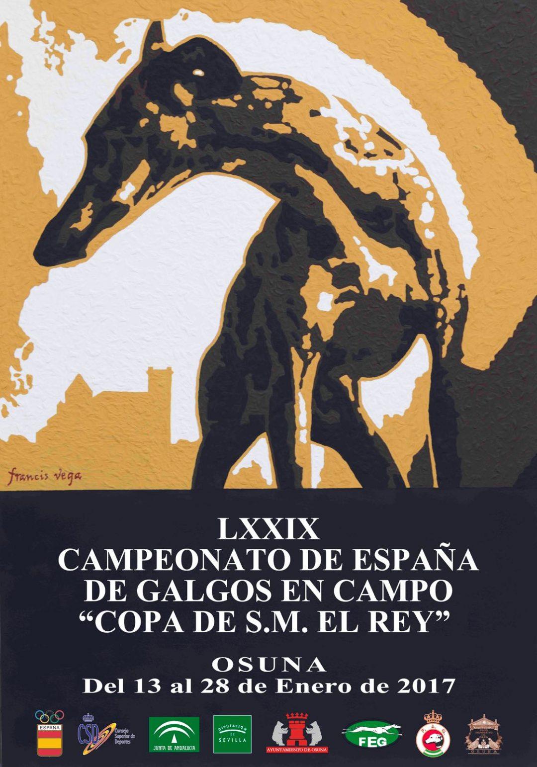 2017 Campeonato de España de galgos en campo Copa S. M. El Rey. Osuna