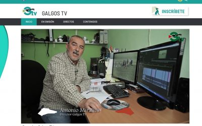 ANTONIO MIRALLES ESTRENA EL CANAL DE TELEVISIÓN GALGOSTV